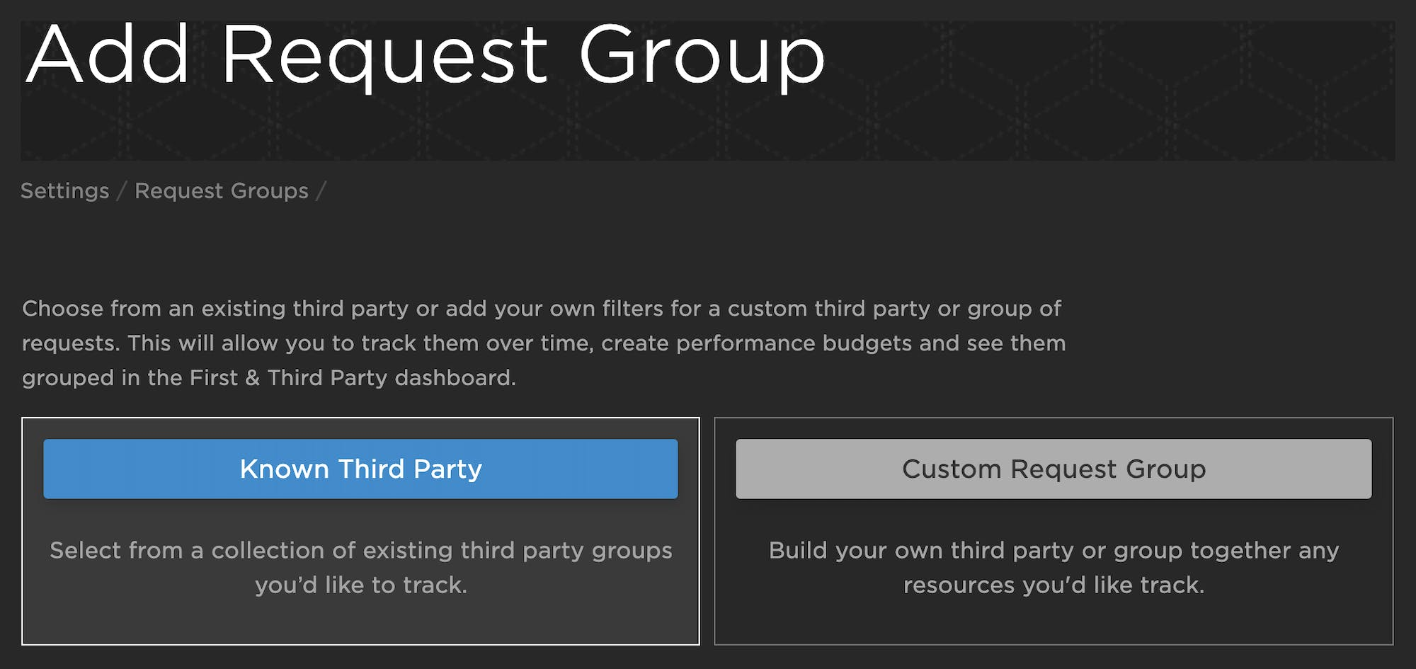Adding a request group