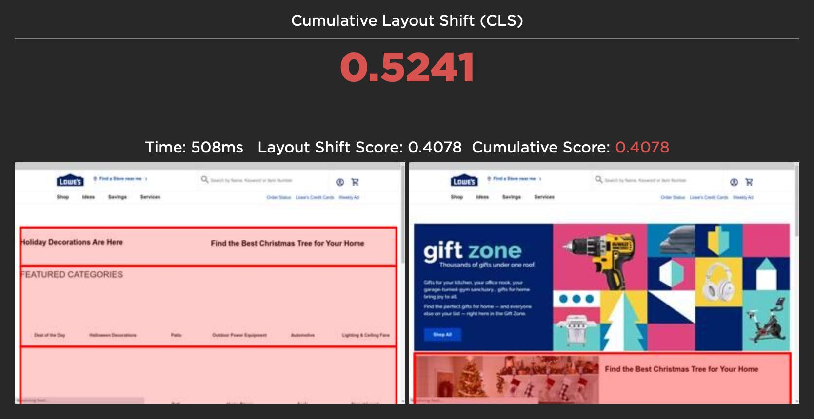 CLS Layout Shift