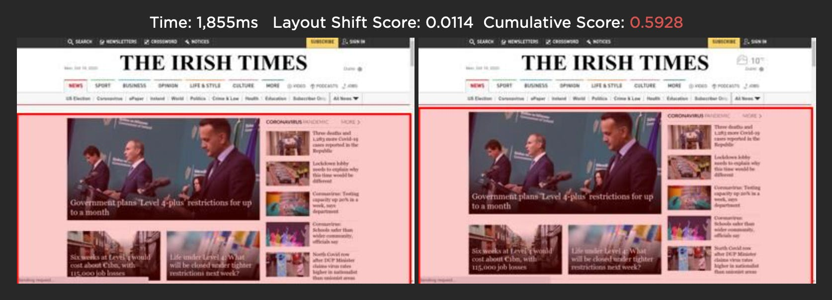 CLS small layout shift