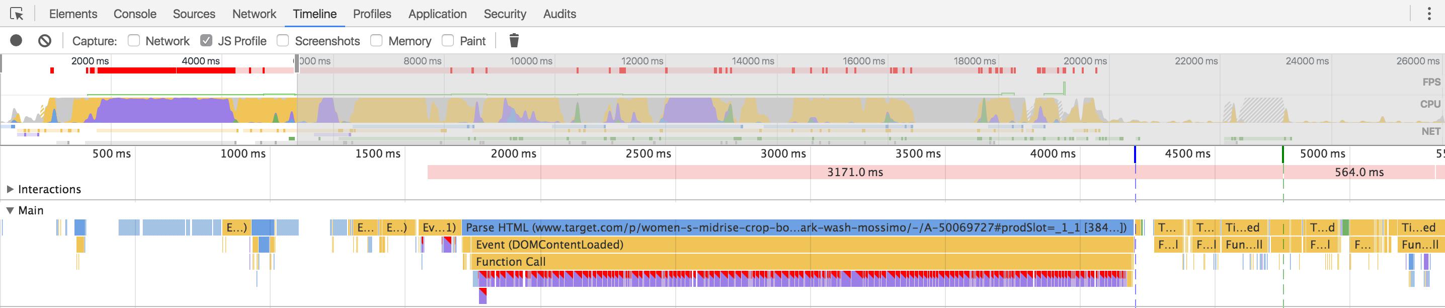 Chrome Dev Tools Timeline