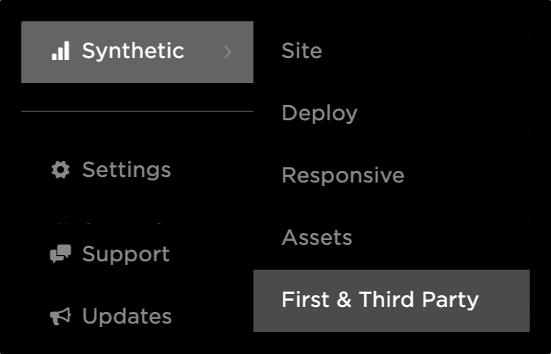Navigation to First & Third Party Dashboard