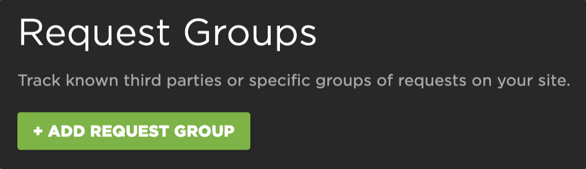 Request group configuration in settings