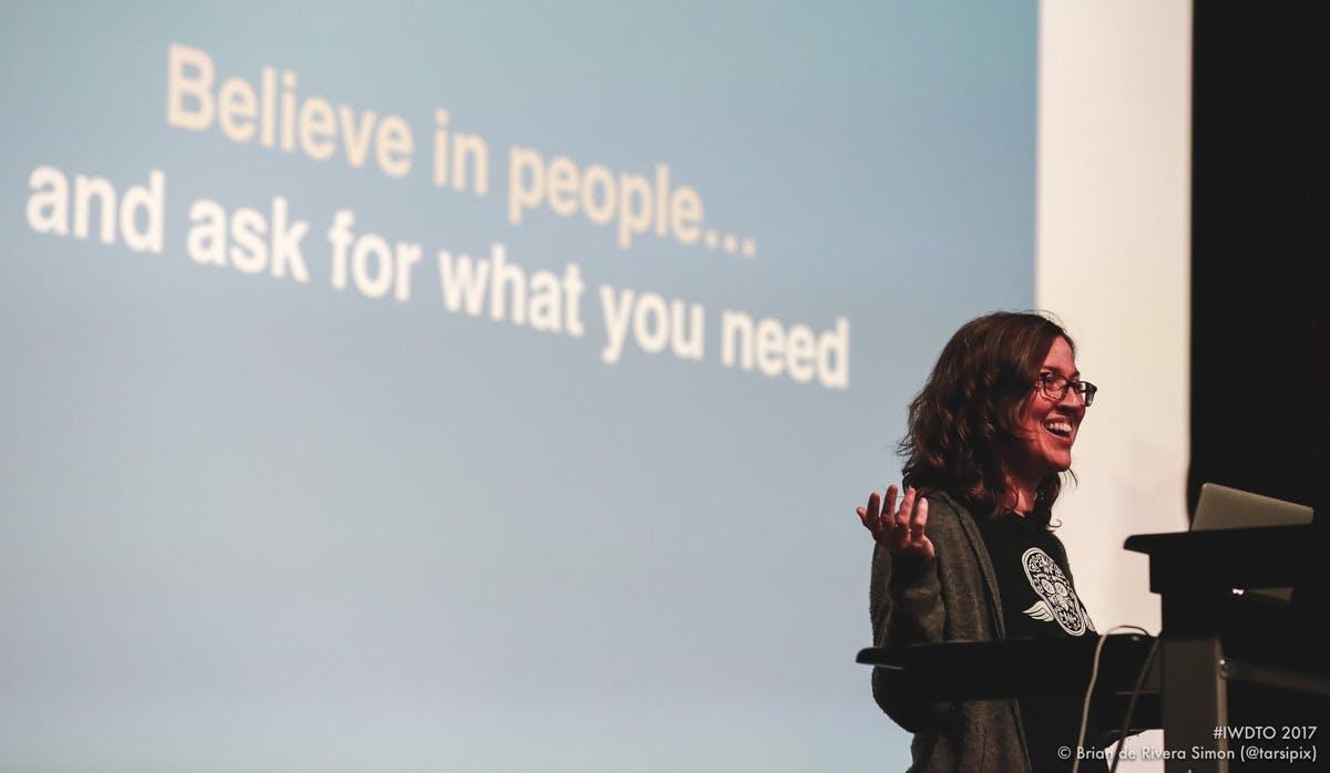 Tammy at International Women's Day Tech Talks in Toronto
